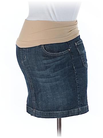 Indigo Blue Denim Skirt Size M (Maternity)