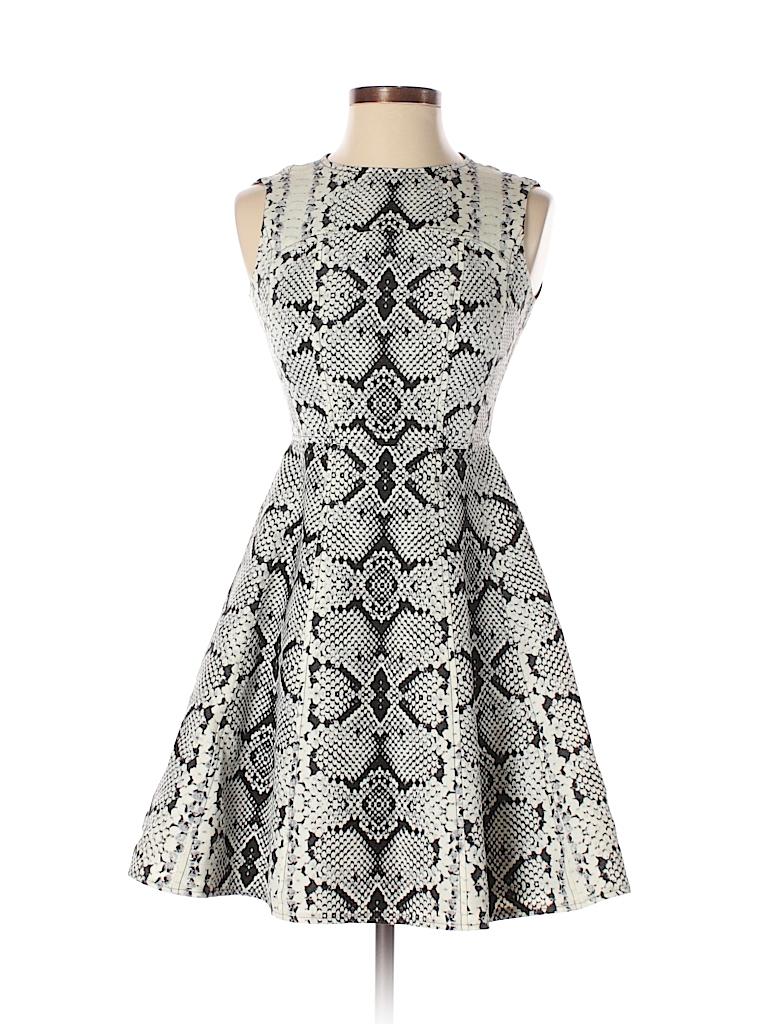 e9186582a6aa Nanette Lepore Animal Print Beige Casual Dress Size 0 - 85% off ...