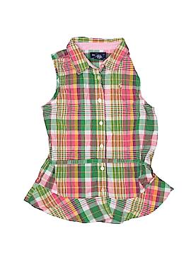 Ralph Lauren Sleeveless Button-Down Shirt Size 16