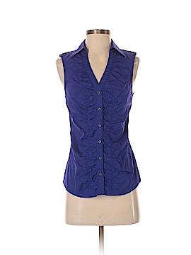 Express Design Studio Sleeveless Button-Down Shirt Size S