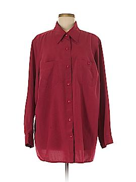 Villager Long Sleeve Button-Down Shirt Size 2