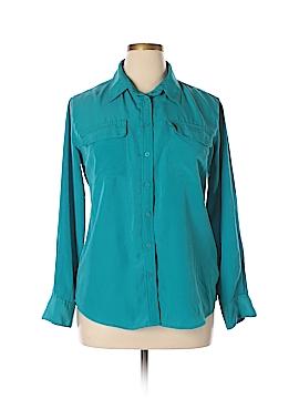 Central Park West Long Sleeve Button-Down Shirt Size L
