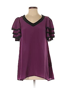 Twelve by Twelve Short Sleeve Silk Top Size S