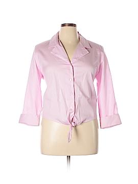 Draper's & Damon's Long Sleeve Button-Down Shirt Size XL