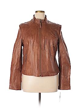 Black Rivet Leather Jacket Size XXL