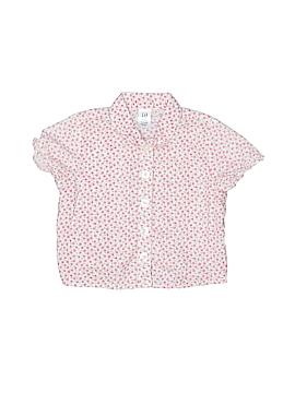 Gap Short Sleeve Button-Down Shirt Size 3-6 mo