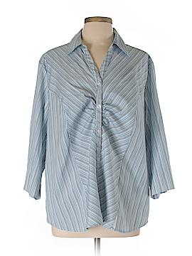 Fashion Bug 3/4 Sleeve Button-Down Shirt Size 22 (Plus)