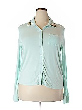 Xhilaration Long Sleeve Button-Down Shirt Size XXL