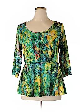 Isabel + Alice 3/4 Sleeve Blouse Size XL (Plus)