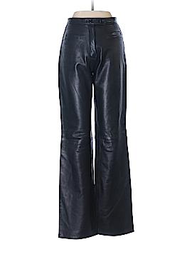 Vera Pelle Faux Leather Pants Size 40 (EU)