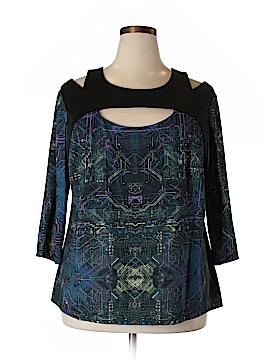 Jete 3/4 Sleeve Blouse Size 2X (Plus)
