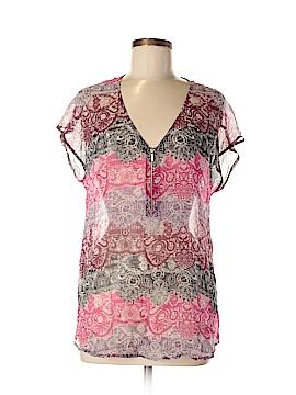 Ella Moss Short Sleeve Silk Top Size M