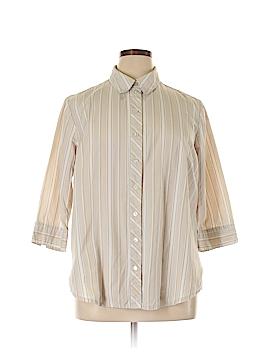 Alia 3/4 Sleeve Button-Down Shirt Size 18W (Plus)
