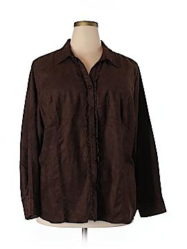 Liz & Me Long Sleeve Button-Down Shirt Size 22 - 24 (Plus)