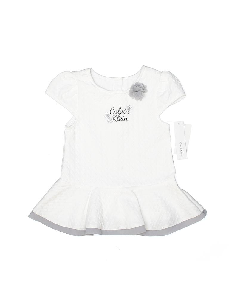 Calvin Klein Girls Short Sleeve Blouse Size 24 mo