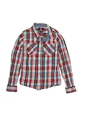 Quiksilver Long Sleeve Button-Down Shirt Size 8 - 10