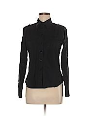 Club Monaco Women Long Sleeve Button-Down Shirt Size M