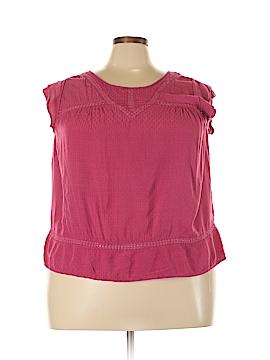Democracy Short Sleeve Blouse Size 2X (Plus)