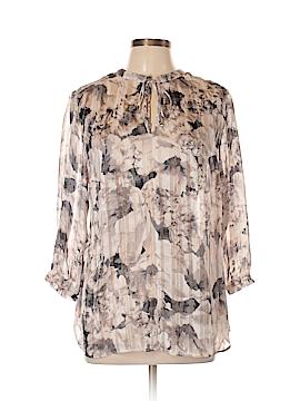 Roz & Ali 3/4 Sleeve Blouse Size L
