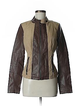Olivia Miller Faux Leather Jacket Size L
