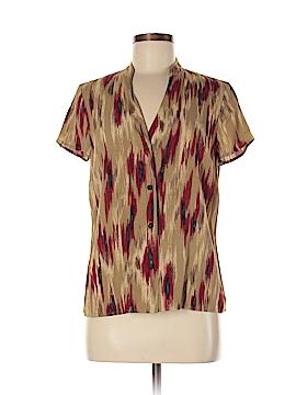 Kate Hill Short Sleeve Blouse Size M (Petite)