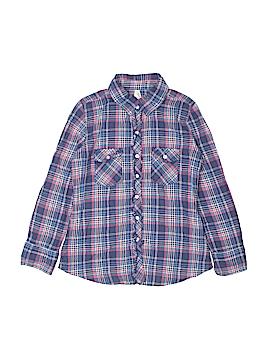 Girl Krazy Long Sleeve Button-Down Shirt Size 7