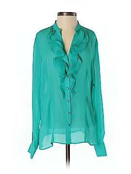 AK Anne Klein Long Sleeve Blouse Size S