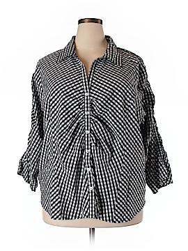 Jessica London 3/4 Sleeve Button-Down Shirt Size 26 (Plus)