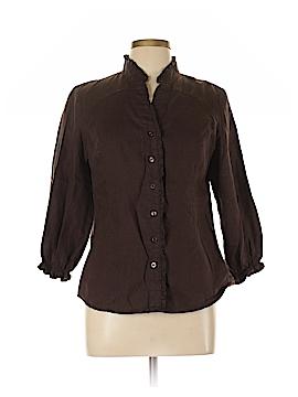 Susan Bristol Long Sleeve Button-Down Shirt Size L