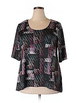 Jete Short Sleeve Blouse Size 1X (Plus)