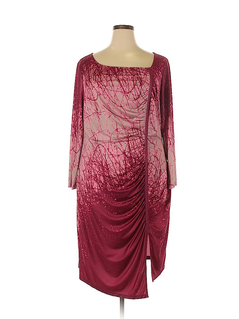 Jete Women Casual Dress Size 2X (Plus)