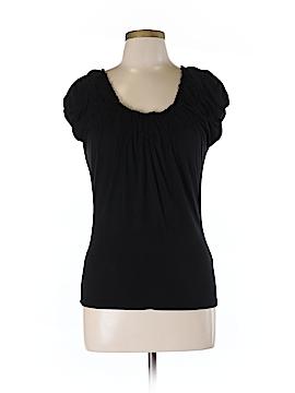 August Silk Short Sleeve Top Size M (Petite)