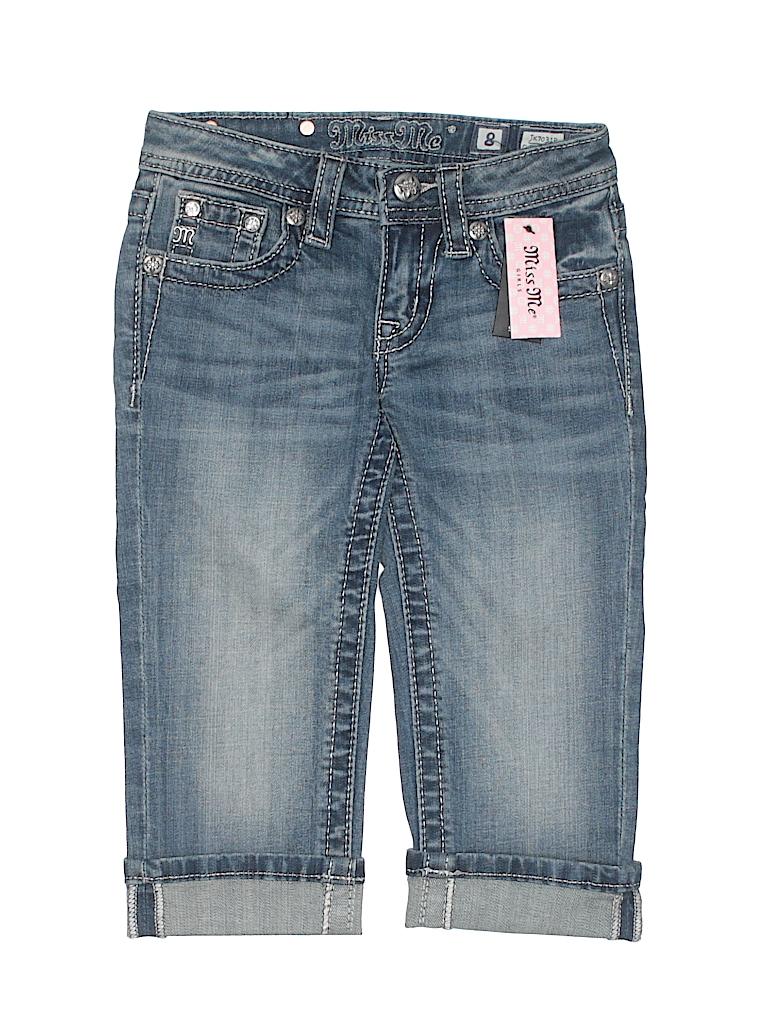 f6e93d72c Miss Me Solid Dark Blue Jeans Size 8 - 62% off | thredUP