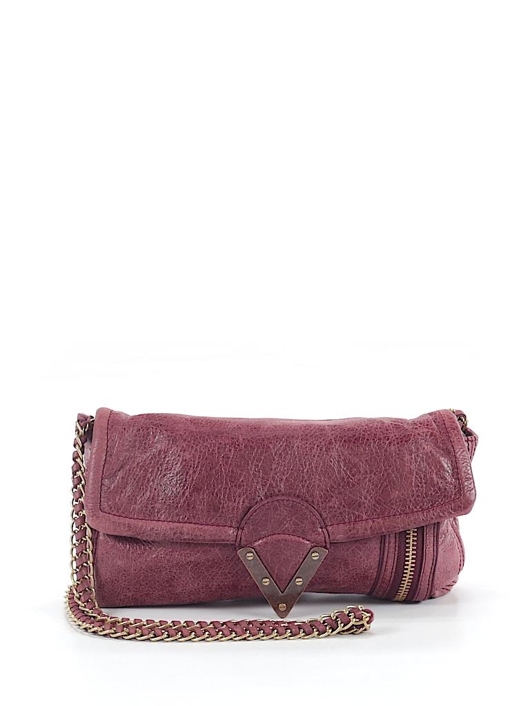 Pour La Victoire 100% Leather Solid Purple Leather Crossbody Bag One ... d08d6b30bd68a