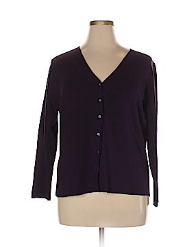 Charter Club Silk Cardigan Size 1X (Plus)