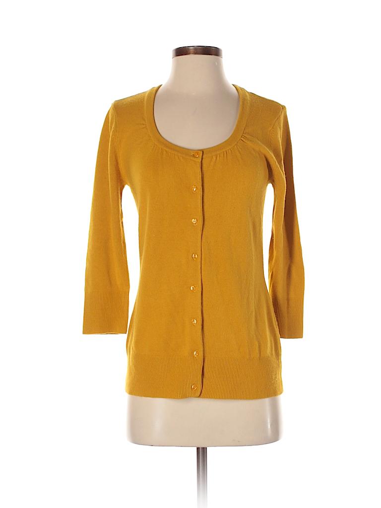 824e27a6a9f7 Cato 100% Acrylic Solid Orange Cardigan Size S - 67% off