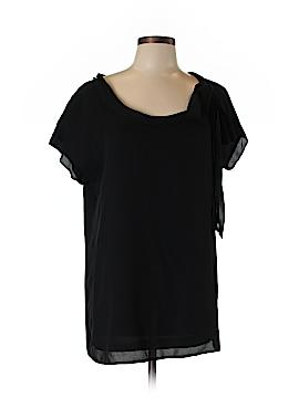 PureDKNY Short Sleeve Silk Top Size 10
