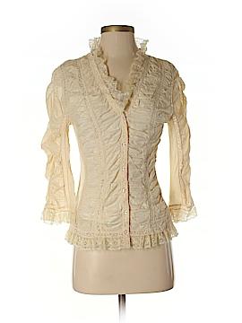 Betsey Johnson 3/4 Sleeve Button-Down Shirt Size 6