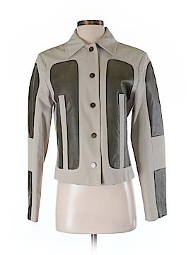 Adrienne Vittadini Leather Jacket Size 6
