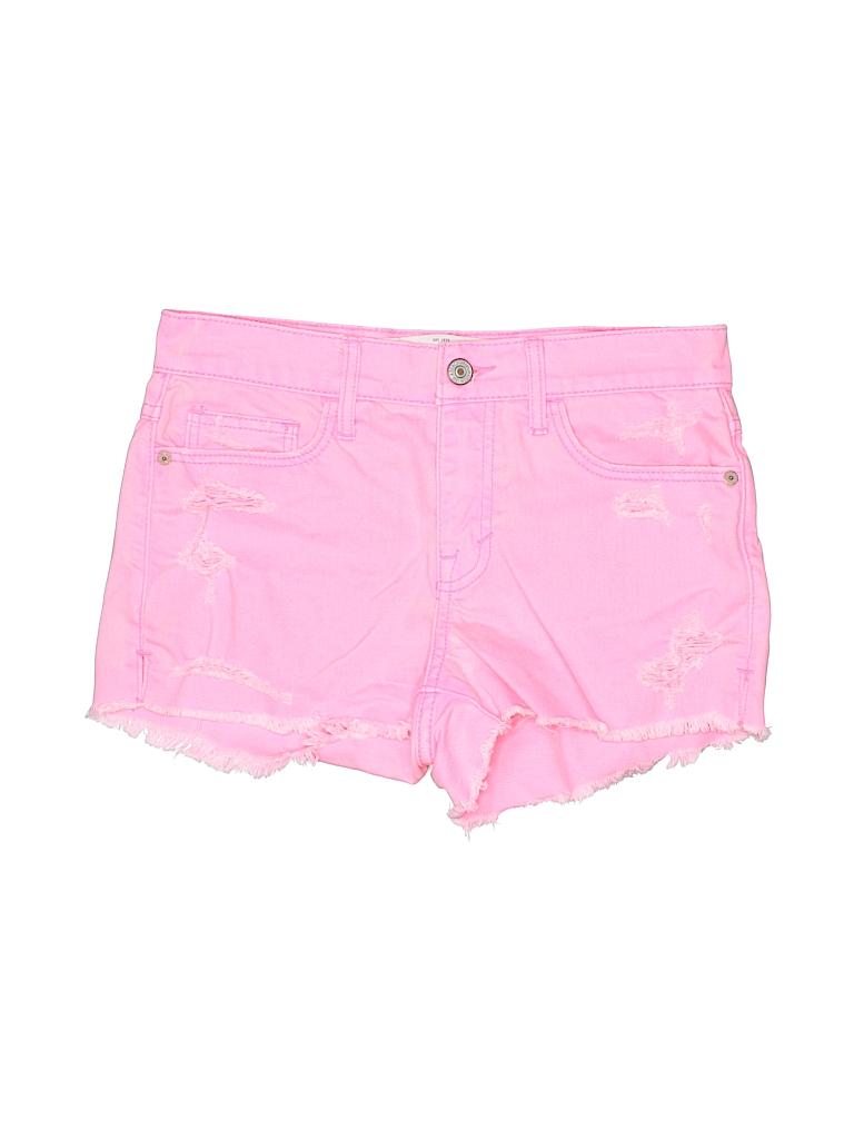 76f789782b Abercrombie & Fitch Solid Pink Denim Shorts 24 Waist - 98% off | thredUP