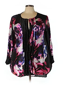 Melissa Masse Long Sleeve Silk Top Size 3X (Plus)