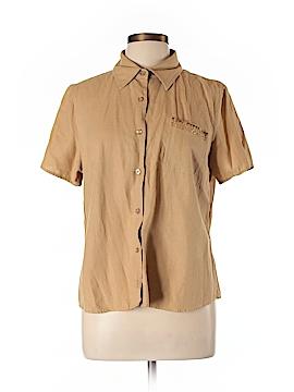 Selene Sport Short Sleeve Button-Down Shirt Size L