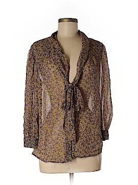 Hinge 3/4 Sleeve Silk Top Size M