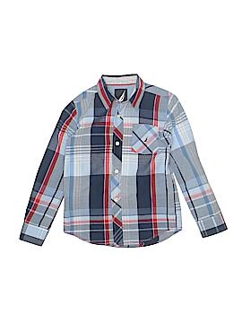 Nautica Long Sleeve Button-Down Shirt Size 6 - 7
