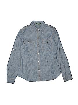 Lauren by Ralph Lauren Long Sleeve Button-Down Shirt Size M (Youth)