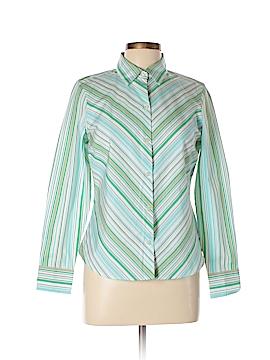 Charter Club Long Sleeve Button-Down Shirt Size 10 (Petite)