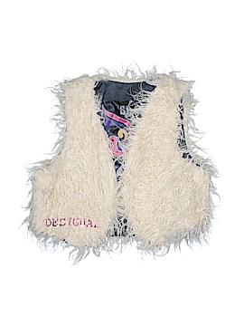 Desigual Faux Fur Vest Size 7 - 8
