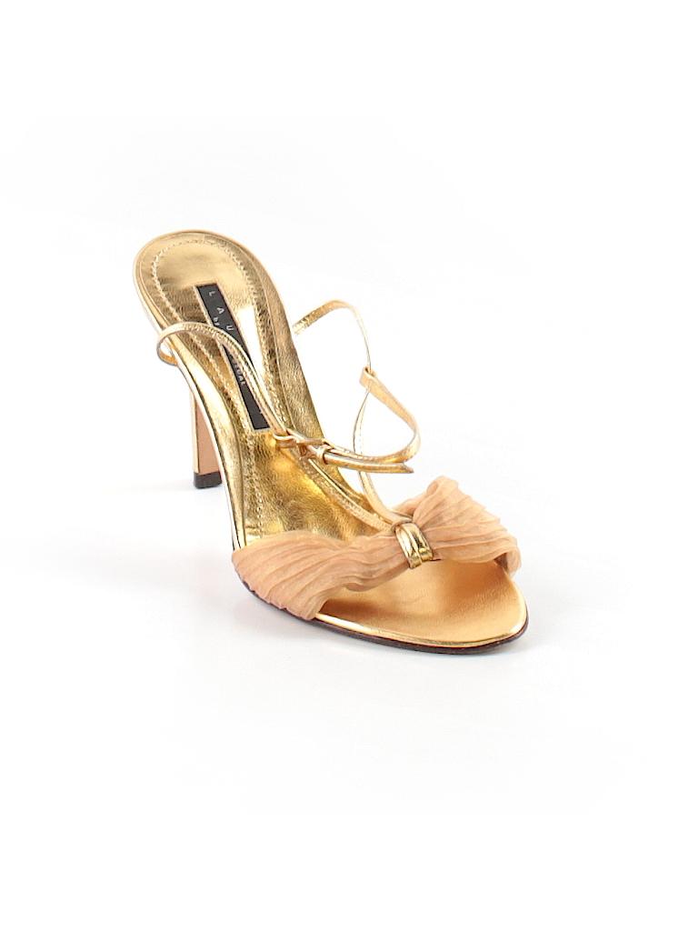 d0f88efeb37 Laundry by Shelli Segal Metallic Gold Heels Size 6 1 2 - 95% off ...