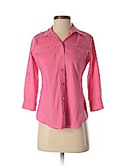 Foxcroft Women 3/4 Sleeve Button-Down Shirt Size 4 (Petite)