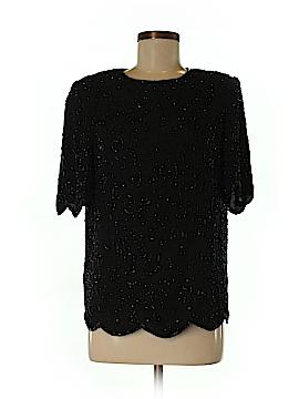 Valerie Stevens Short Sleeve Silk Top Size 8